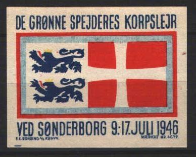 Korpslejrmærke Sønderborg 1946